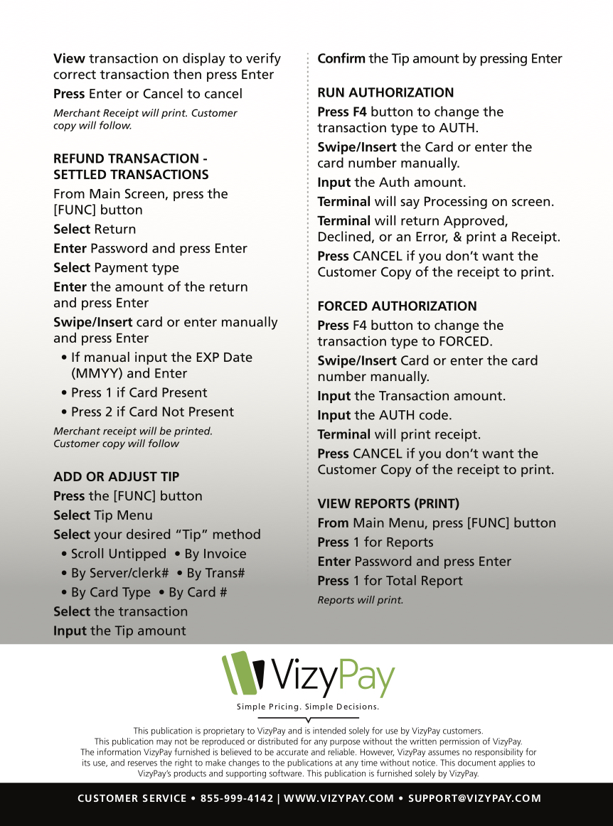 Pax S80 User Guide – VizyPay